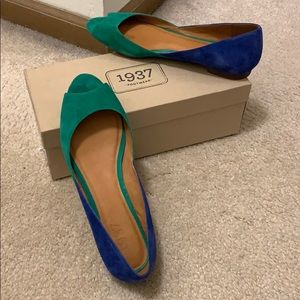 Madewell colorblock suede flats